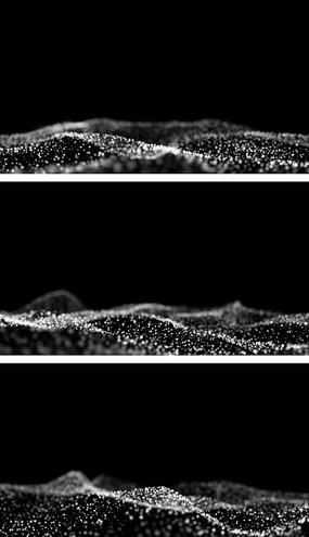 白色粒子海洋波浪特效视频素材