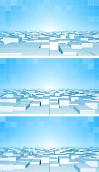 简洁网格科技空间点线面元素通用背景视频素材