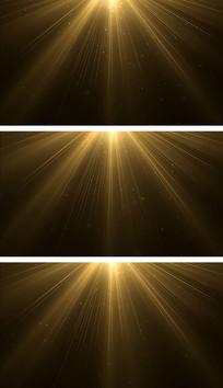 金色光线粒子意境舞台背景视频素材