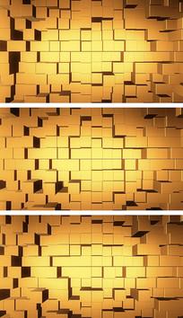 金色矩阵金融空间财经元素通用背景视频素材