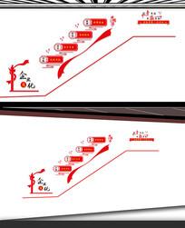 企业标语楼梯文化墙设计