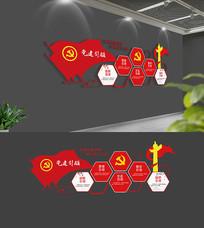 社区党建引领五个引领党建文化墙