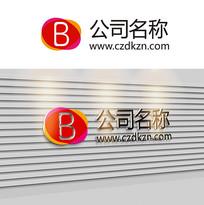 时尚互联网B字母logo设计