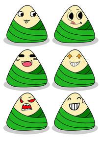 原创鼠绘食物端午元素卡通表情粽子