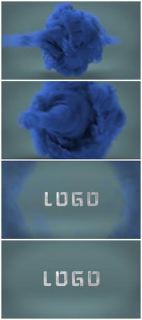 震撼烟雾龙卷风展示logo视频模板