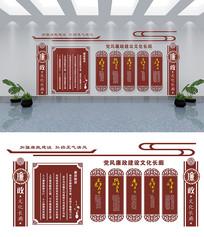 古典廉政文化长廊墙设计