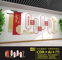 食堂文化餐厅标语文化墙