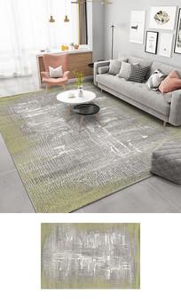 现代抽象几何条纹地毯图案设计