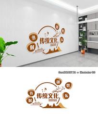 新中式线条中华传统文化墙