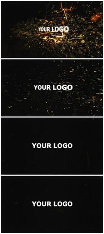 震撼粒子旋转logo视频模板