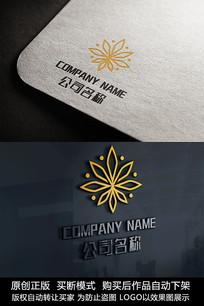 花朵logo标志花商标设计