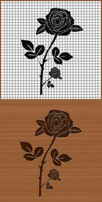 花中皇后月季花矢量雕刻素材