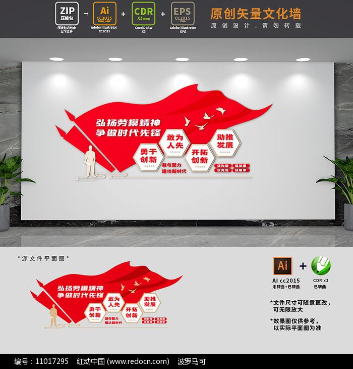 劳模之家创新工作室文化墙图片