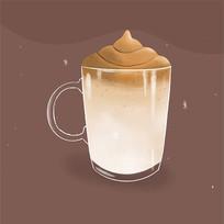 美食咖啡矢量扁平手绘插画