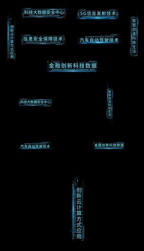 7款科技字幕文字AE模板