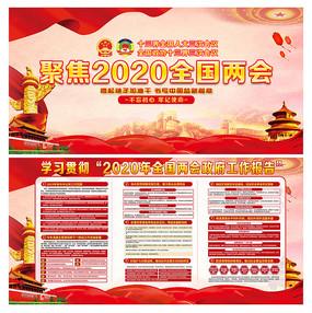 大气2020全国两会展板设计
