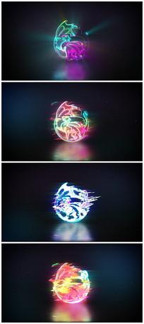 故障色彩分离logo片头视频模板