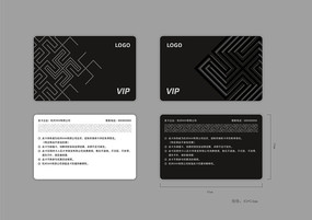 黑色会员卡