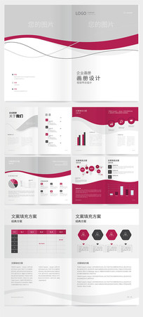 红色大气企业画册