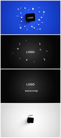简洁logo演绎片头视频模板