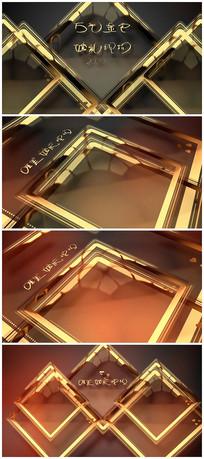 金色粒子人物介绍照片展示视频模板