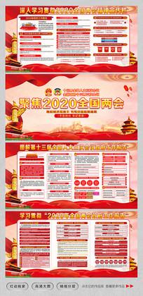 大气2020聚焦全国两会宣传展板