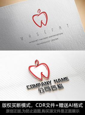 苹果logo标志口腔商标设计