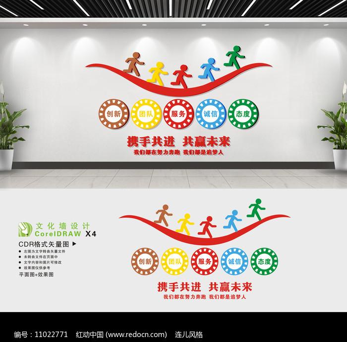 企业宣传文化墙设计图片