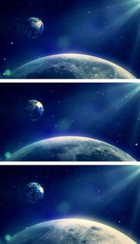 月球登陆计划月亮视角太空科研背景视频素材