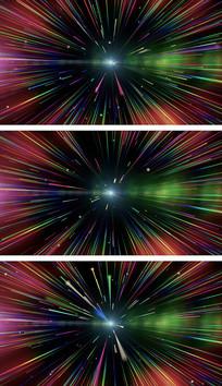 紫醉金迷彩色粒子抒情意境背景视频素材