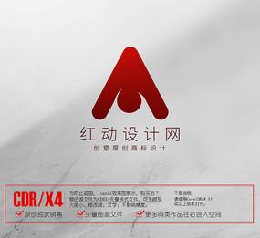 公司logo A字母logo标志设计