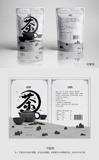 中国风茶叶灰色包装