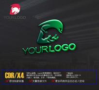 D字母logo动物标志设计