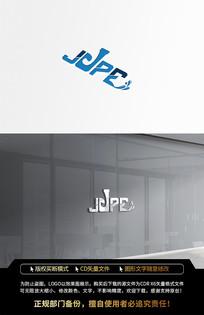 大气蓝色电器JPE水滴LOGO标志设计