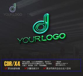 d字母logo标志设计