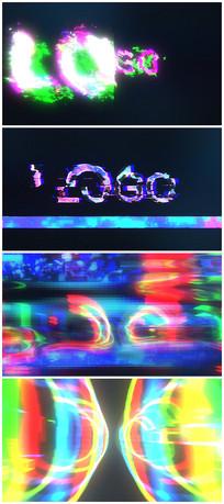 故障个性LOGO标识视频模板