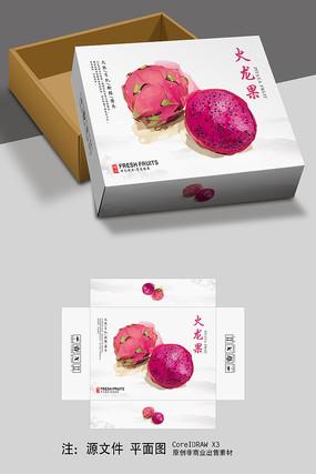 简约火龙果水果包装设计