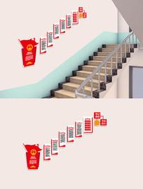 社区人大代表党建楼梯文化墙