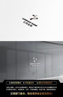 时尚民族风线条服装LOGO标志设计