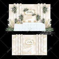 香槟色主题婚礼效果图设计简约婚庆迎宾区