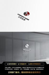 中国风水墨传统太极LOGO标志设计