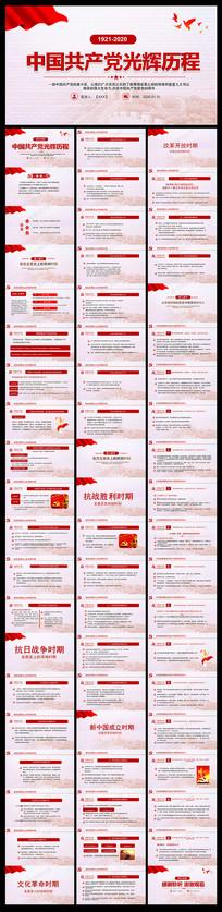 中国共产党建党99周年光辉历程PPT