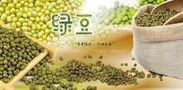 高端大气企业绿色绿豆宣传海报