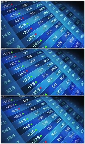 股票市场数据栏商务数字循环背景视频素材