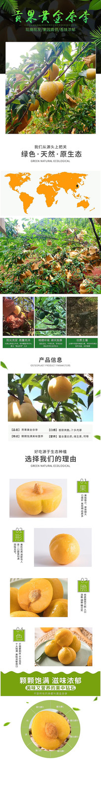 奈李水果详情页设计