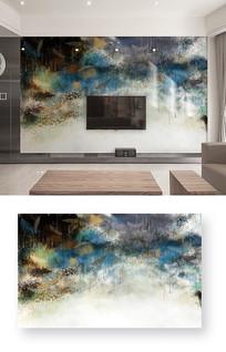 时尚抽象纹理水墨风格新款雨滴电视背景墙