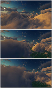 天空夜空飞行屏幕LED循环背景视频素材