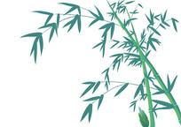 原创手绘中国风竹林竹子插画素材PSD