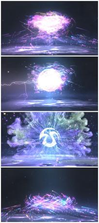 震撼粒子爆炸logo视频模板