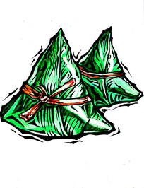 粽子手绘插画